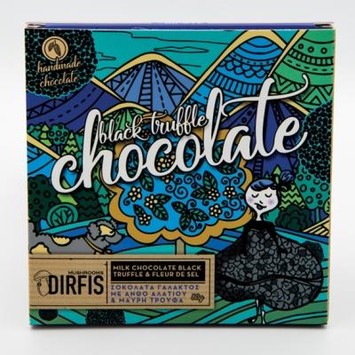 Σοκολάτα γάλακτος μαύρη τρούφα & ανθός αλατιού