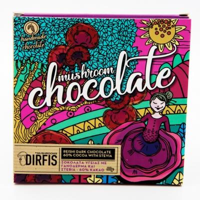 Σοκολάτα Υγείας (60% κακάο) γανόδερμα στέβια